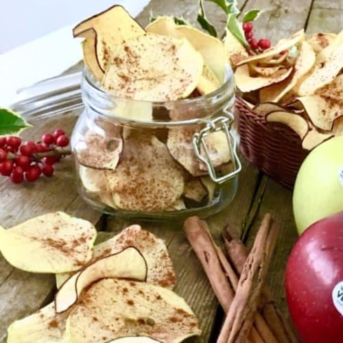 canela chips de manzana