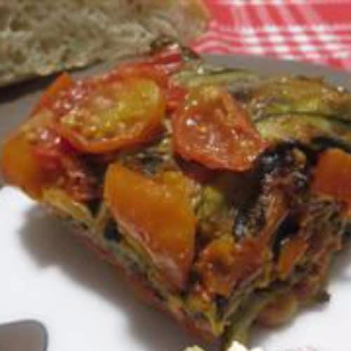 Receta de calabacín parmesano en la sartén y bresaola robiola