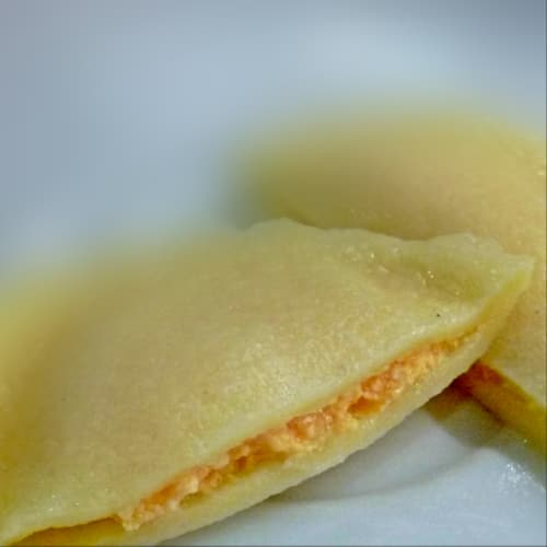 Ravioli stuffed with pumpkin and cottage cheese