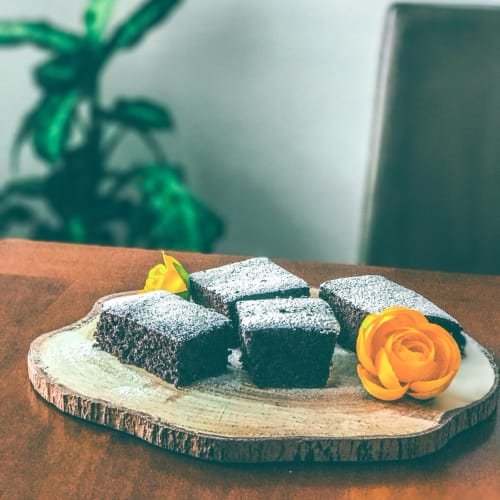 Torta de cacao dietética y vegetariana