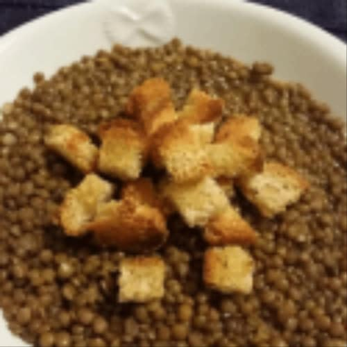 Lentils according to grandmother's recipe