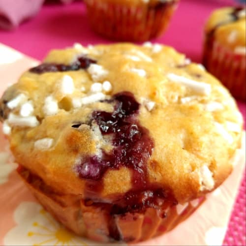 Muffin apple and blueberries