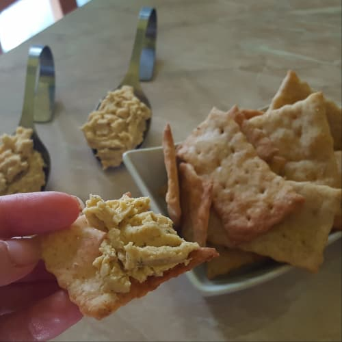 Galletas y humus