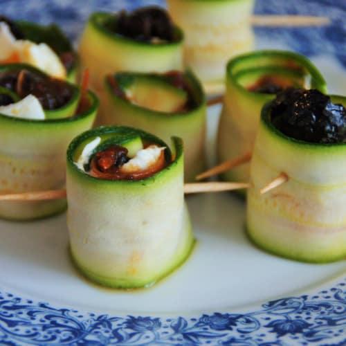 Wraps di zucchine Raw