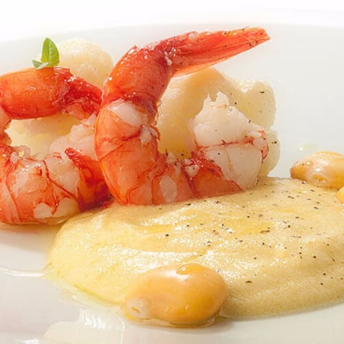 Lupine and shrimp