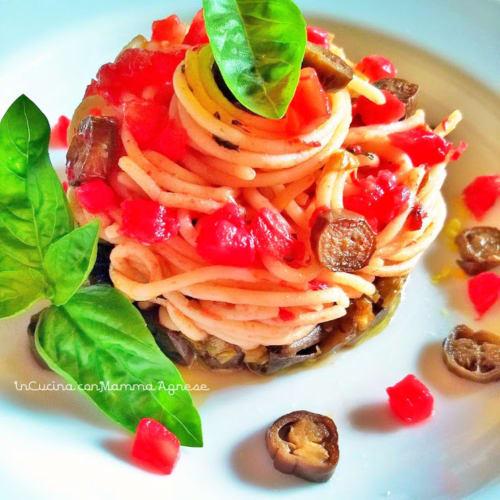 Spaghetti alla Norma en mi camino