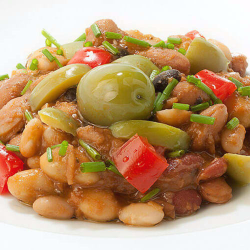 Legumes with Giant Sweet Olives