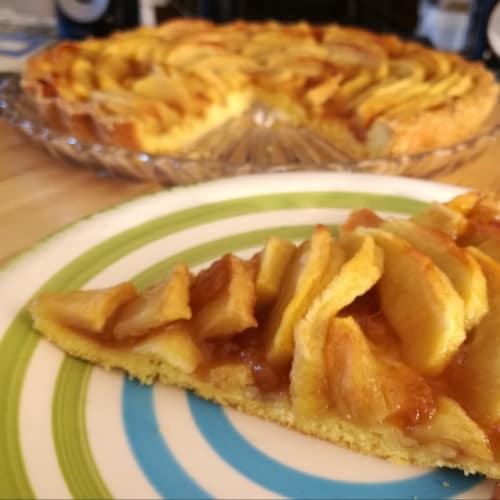 Las manzanas Tarta de trigo duro para