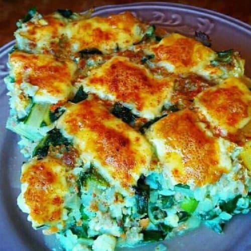 Tarta de carne y vegetales
