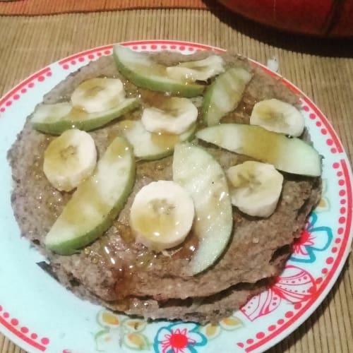 Pancakes de avena y platano