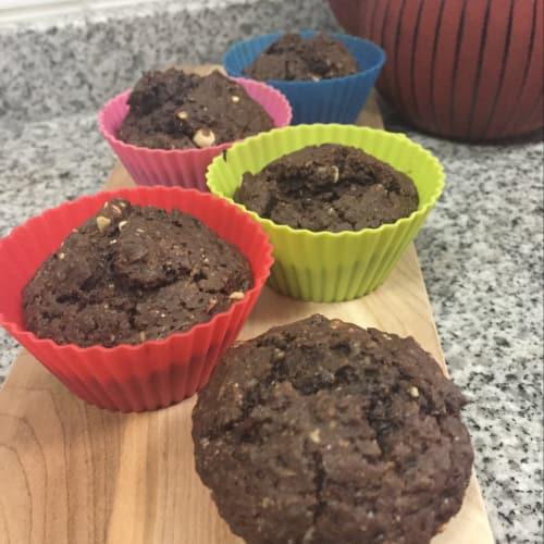Muffins de chocolate y mani