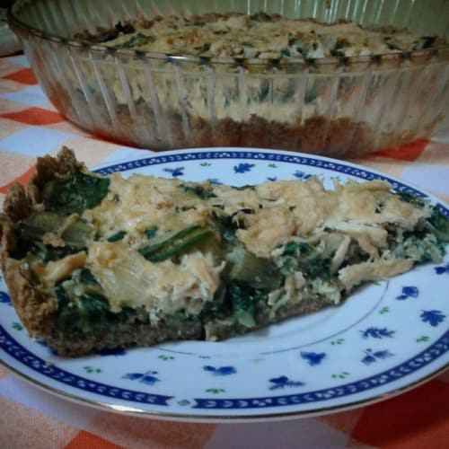 Chicken Quiche and Swiss Chard