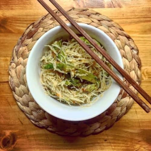 fideos de arroz cantonés me hacen