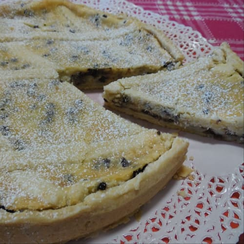 Mackerel and ricotta tart