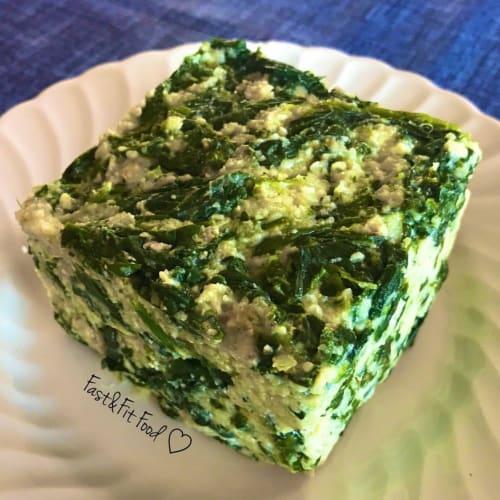Porridge di riso con ricotta e spinaci