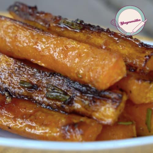 Palitos de zanahorias picantes al horno