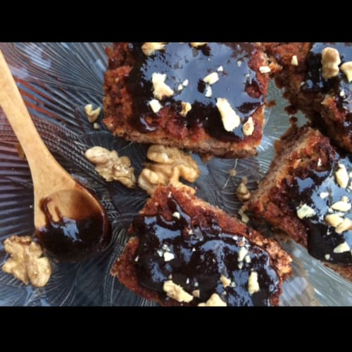 Gluten-free cupcake with caramel