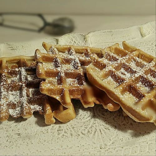 Waffle with full flour