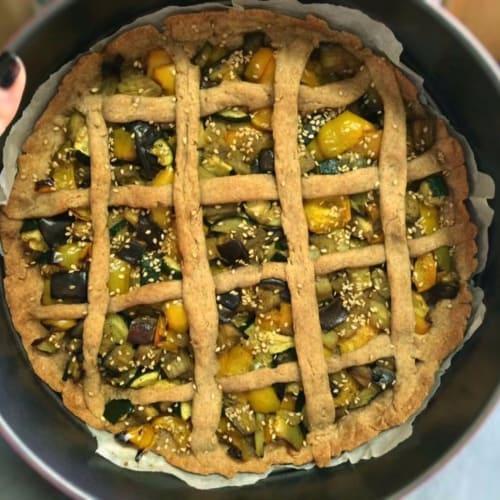 Torta rustica vegana di grano saraceno