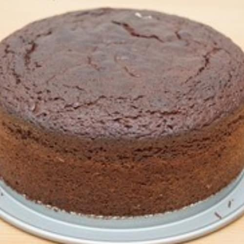 Chocolate cake and orange jam