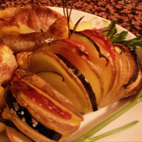 Patate con verdure