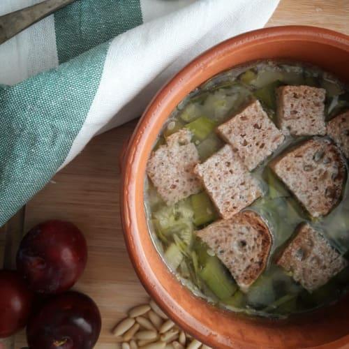 sopa del calabacín