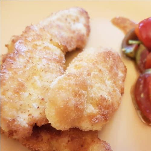 pechugas de pollo empanado de coco