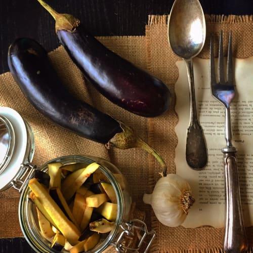 Eggplants in oil