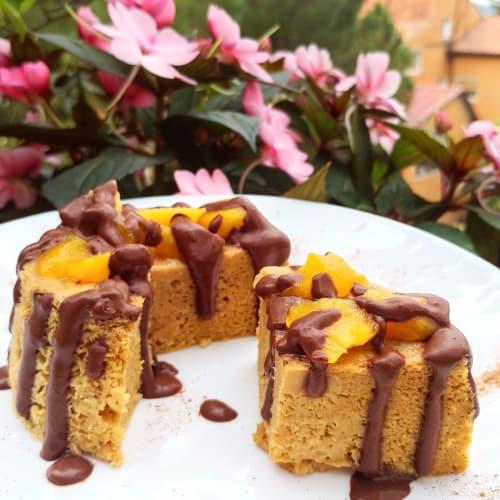 multivitamínico Crepe con melocotón y crema de chocolate