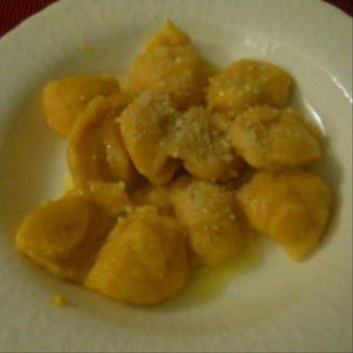 gluten de calabaza ñoquis