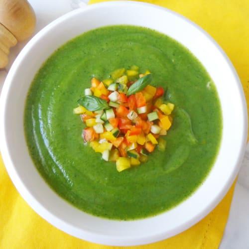 Crema alle zucchine e verdure colorate