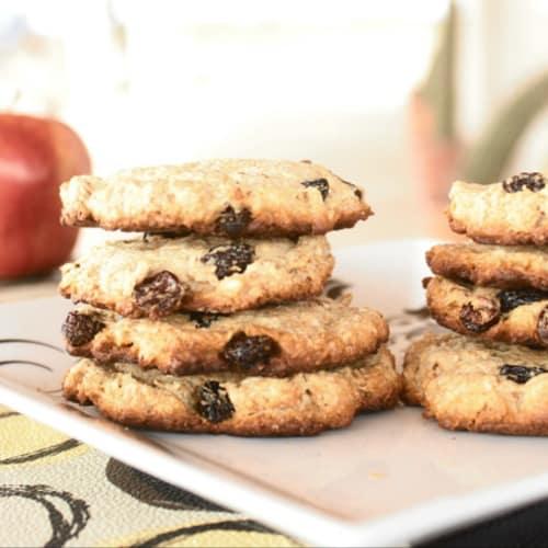 cookie di cocco e mela