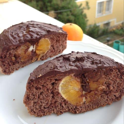Torta en la sartén con mandarina