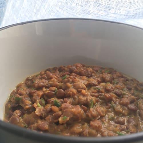 Pumpkin lentil soup