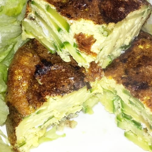 Light salted zucchini pancakes