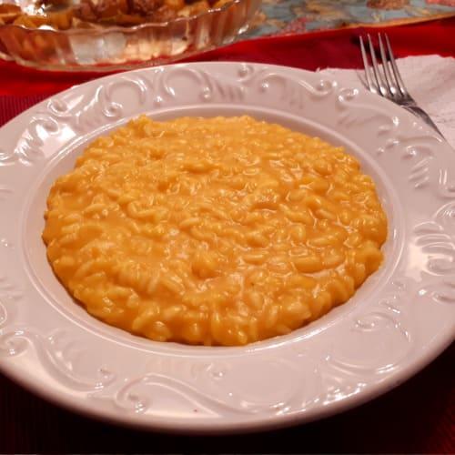 risotto cremoso alla zucca senza burro