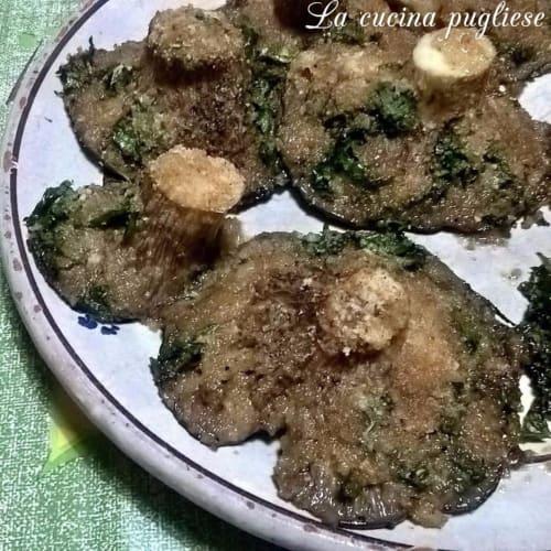 Grated chicken mushrooms
