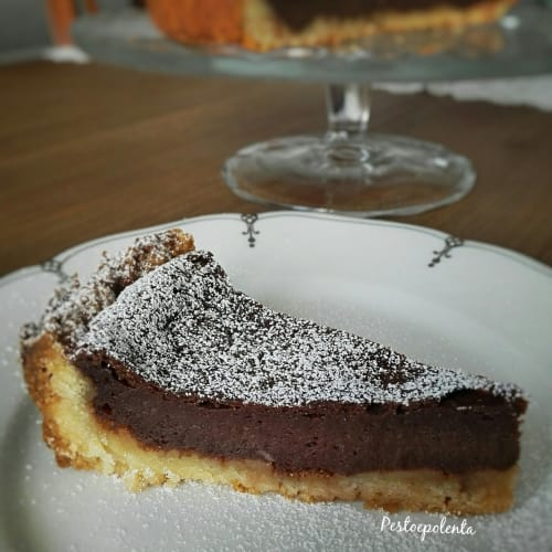 Chocolate stew tart