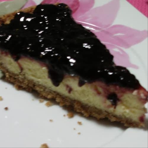 Cheesecake con marmellata di ciliegie