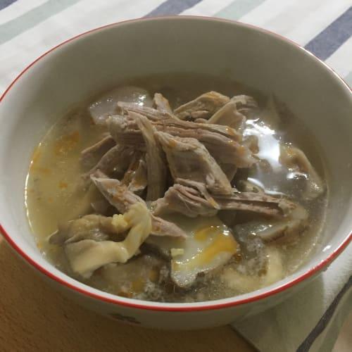 ternera y alcachofa sopa
