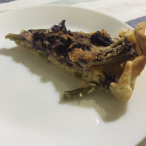 Torta rustica vegetariana al curry