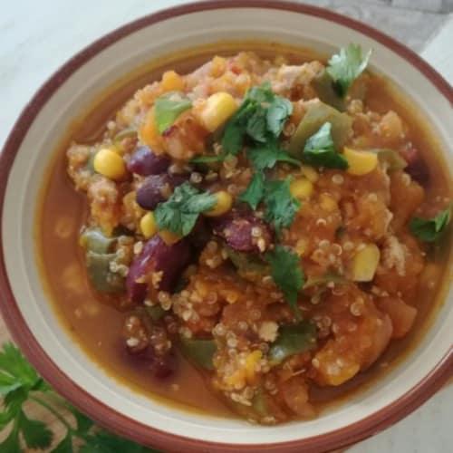 Chili di quinoa e zucca