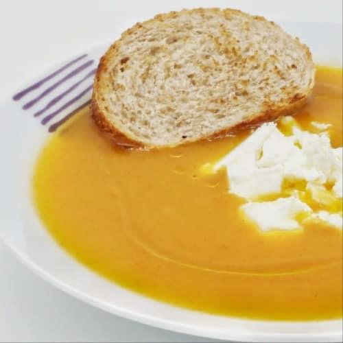 Velvety potato and pumpkin with paprika