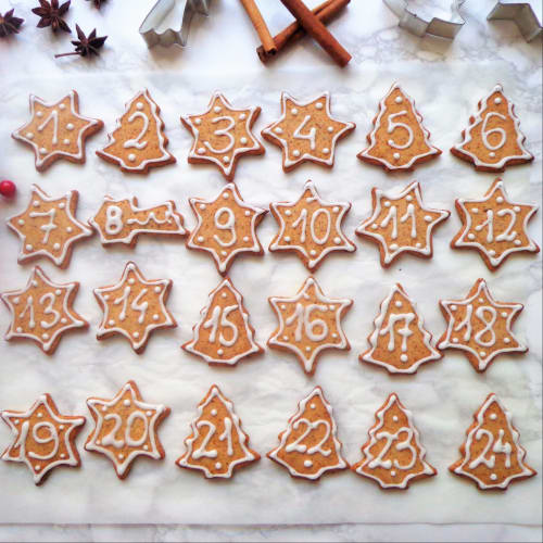 Galletas para la Navidad Calendario de Adviento