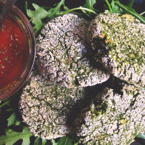 Polpette di miglio lupini e spinaci