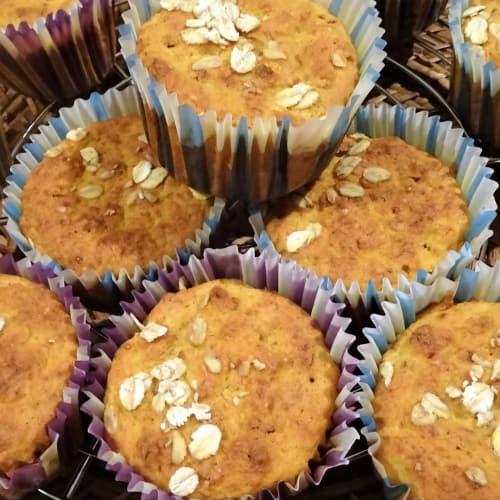 Cupcake Zucca, Nocciole, Avena senza glutine