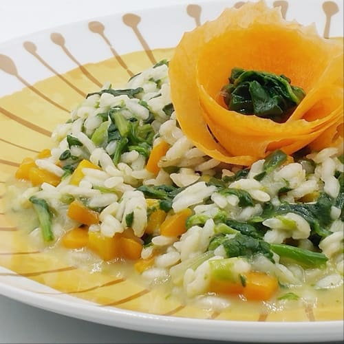 Risotto spinaci e carote