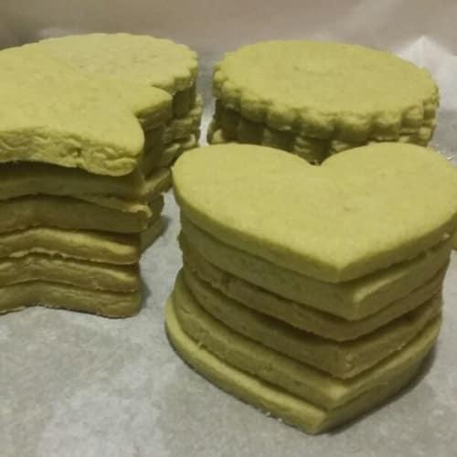 Biscotti di frolla al Matcha