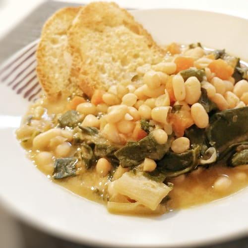 Zuppa di bieta e fagioli