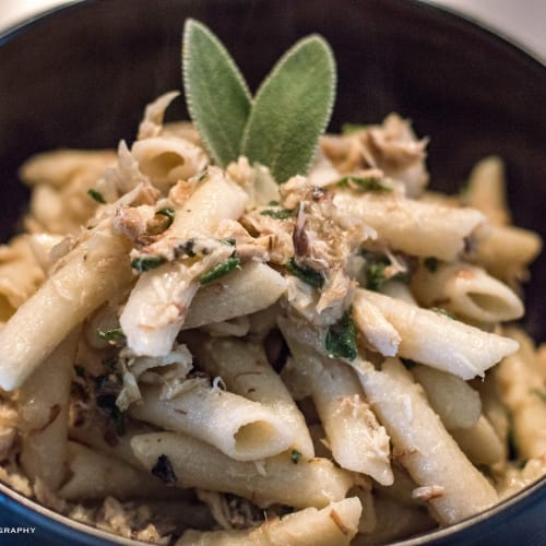 Pasta with Mackerel and Sage